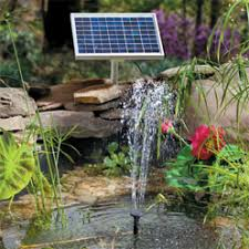Solar Garden Fountains