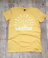 Make Your On Shirt Teacher Shirts Create Your Own Sunshine Teacher T Shirt Etsy
