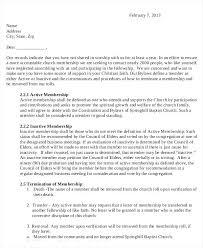 Free Termination Letter Templates Word Church Membership Transfer ...