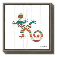 amanti art southwestern vibes v gecko by farida zaman framed canvas
