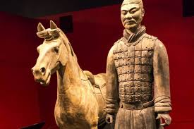 the thumb of a nearly 2 000 year old terracotta warrior was stolen while on display at the franklin institute photo provided to china daily