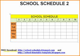 school schedule template top result kindergarten timetable template awesome 11 school