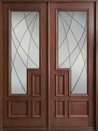 Solid Wood Front Door Designs Modern Front Door Custom Double Solid Wood With Dark