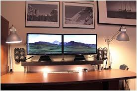 home office workstations. Contemporary Home Desktop19 Intended Home Office Workstations