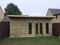 wooden garden shed flat roof 16ftx8ft