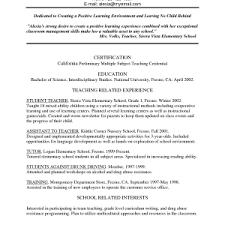 elementary school teacher resume samples format elementary school teacher resume samples cover letter archaicfair elementary special education cover letter sample