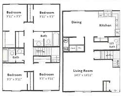 4 bedroom floor plan.  Floor 401 S Chauncey Ave  4 Bedroom Floor Plan Inside R