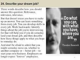 Describe Your 24 Describe Your Dream Job Three Words Describe How You