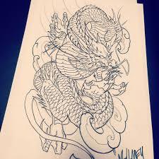 Dragon Tattoo Sketch Sketches Dragon Art Oriental Dragon Japanese