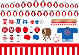 夏祭り イラストセット イラスト素材 4557414 フォトライブラリー