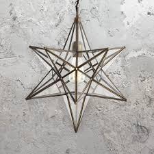 Glass Star Light Clear Glass Star Pendant Light Cl 36469