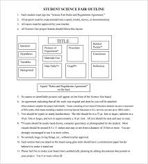 Science Fair Templates Project Outline Template 8 Free Sample Example Format Download