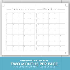 2019 2020 Monthly Printable Calendar