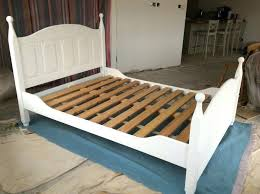 chalk paint wooden bed frame solid wood painted frames oak style white in home improvement outstanding exciting