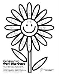 Multiplication Coloring Pages 4th Grade Free Download Best