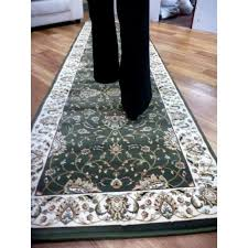 carpet runners set 3m rugs heritage green all over soft feel pile