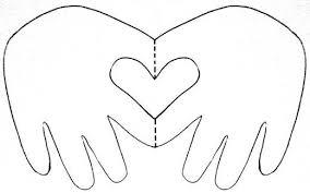 Child Baby Hand Heart Card Printable Heart Template Heart