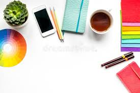 Profession Concept With Designer Tools On Work Desk Background Top