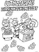 9 Kleurplaten Van Pannenkoekenfeest
