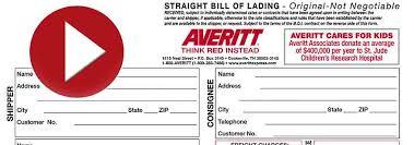 bill of lading printable form create a bill of lading averitt express