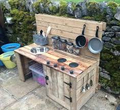 inspiring outdoor kitchen diy affordable kitchen with wooden protable kitchen and pans and sink