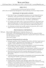 Sample Resume Senior Financial Services Operational Management p1 ...