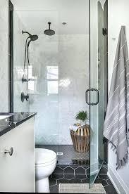 matte black hexagon tile hex shower floor tiles with gray marble herringbone wall large