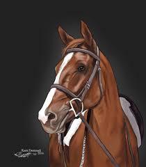 horse head painting by kooli2087
