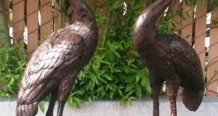 garden cranes. Cranes Dutchman Fountains Bronze Statue Garden Sculpture W