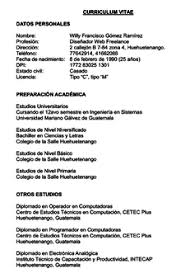 Curriculim Vitae Curriculum Vitae Wikipedia La Enciclopedia Libre