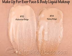 pics of makeup forever face and body honey beige