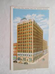 vintage postcard bloomington illinois state farm insurance company home office building