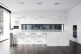 modern white kitchen dark floor. White Marble Island Kitchen Dark Wood Floors Modern Kitchens That Exemplify Refinement Design Ideas And Inspiration Examples Looking For Designs New Style Floor O