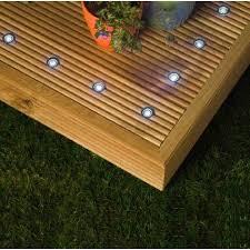 outdoor led deck lights. 10 x led outdoor decking light kit - white led deck lights