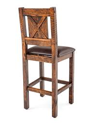 rustic bar stools barn wood bar stool solid wood stool cabin stool throughout bar stools rustic decorations