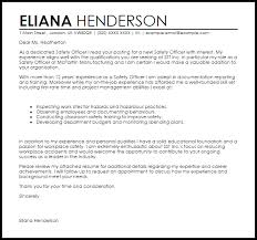 Safety Officer Cover Letter Sample Cover Letter Templates Examples