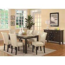 carter collection cream leatherette dining chair set of 2