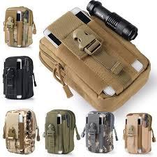 Men's Military Tactical Waterproof Waist Pack <b>Purse Outdoor Sport</b> ...