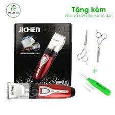 Tông đơ cắt tóc gia đình Jichen 0817 KÈM Bộ kéo cắt tỉa + lấy ráy tai có  đèn, tông đơ cắt tóc cho bé, tông đơ cắt tóc chuyên nghiệp giá rẻ