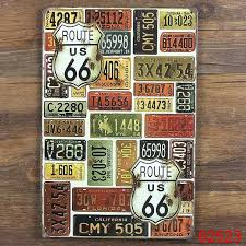 metal tin signs plates wall art craft iron retro metal painting route 66 country style vintage on country style metal wall art with metal tin signs plates wall art craft iron retro metal painting