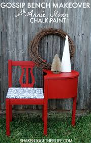 gorgeous gossip bench makeover with annie sloan chalk paint bench painted chalk paint