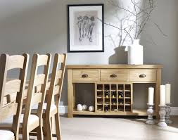 Buy Corndell Fairford Light Oiled Oak Console Table with Wine Rack