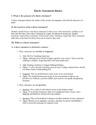 45 Perfect Thesis Statement Templates Examples