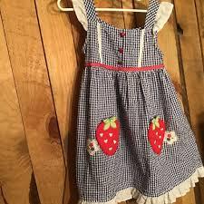 Girls Youngland Dress Size 6 White Blue Gingham Sun Dress