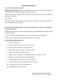 organizational behavior final exam