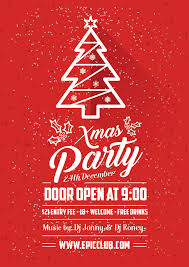 Christmas Design Template Free A4 Christmas Party Flyer Design Template Mock Up Psd