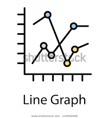 Trending Graph Two Trending Graph Lines Showing Some Stock Vector Royalty