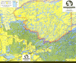 boundary waters canoe map  bwca route planning map