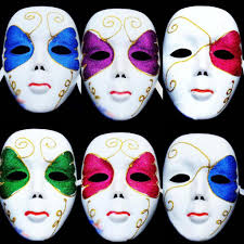Whole Mask Designs Women Full Face White Painted Venetian Carnival Masks Party Masquerade Masks Festive Celebration Halloween Face Mask Victorian Masks Vintage