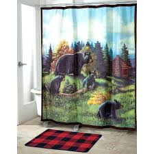 gallery pictures for lodge shower curtain low bathroom decoration mountain lodge moose and bear shower curtain lodge shower curtain hooks
